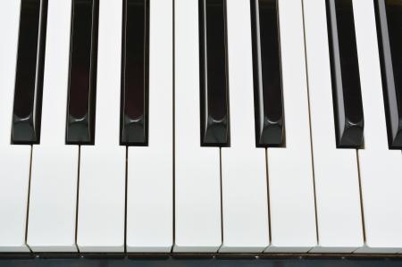 Shiny piano keys on grand piano  Stock Photo - 22742653