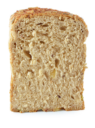 Bread slice isolated on white photo