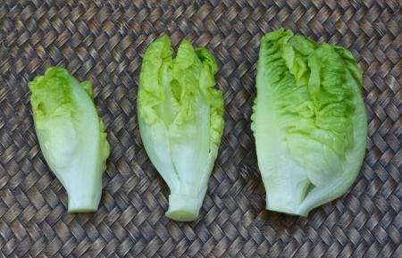 cos: Baby Cos lettuce Stock Photo