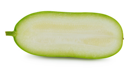 Slice of winter melon on white  photo