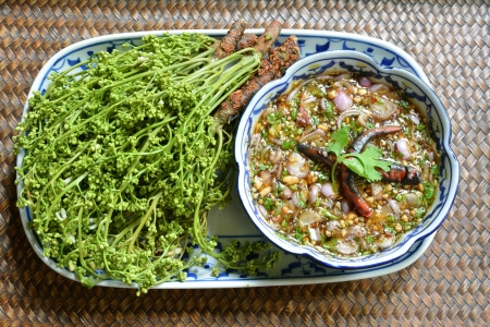 quinine: boiled neem with Sweet sauce Delicious Thai style Food