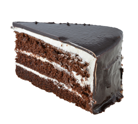 piped: chocolate cake with chocolate cream decoration