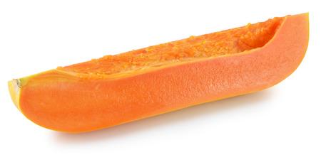 papaya in white background photo