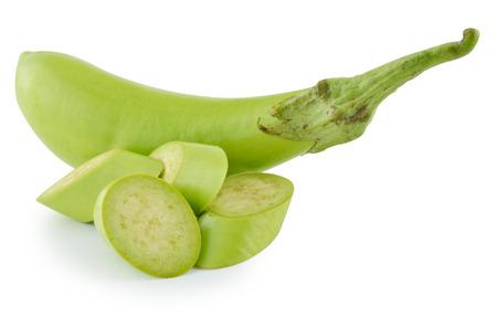 eggplant isolated on white photo