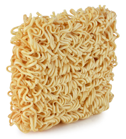 briquette of the twisting egg noodles photo