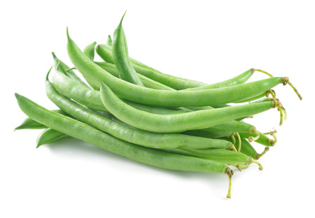 green beans on white  photo