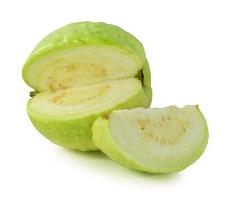 Guava fruit on isolated white  photo
