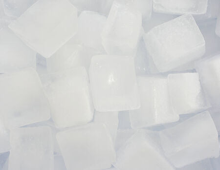 Ice cubes background close up view Stock Photo