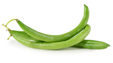 green beans on white background Stock Photo