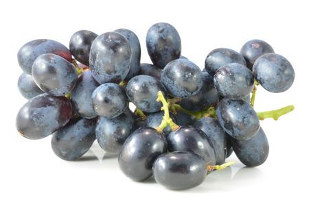 crimson: Dark grapes, Isolated on white background