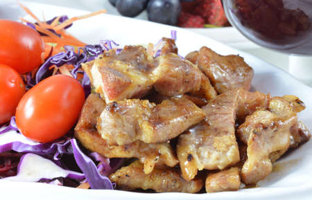 Pork Steak with Vegetables  photo