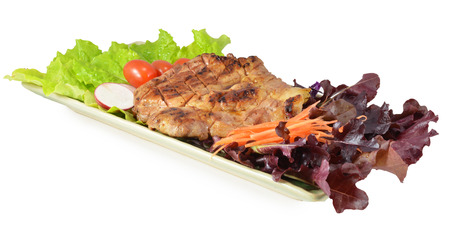 Pork Steak with Vegetables. photo