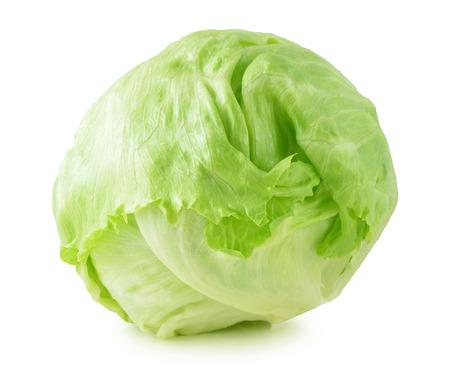 Green Iceberg lettuce on White Background photo