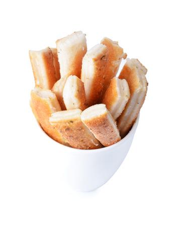 sesame cracker: Bread Stick on white Stock Photo