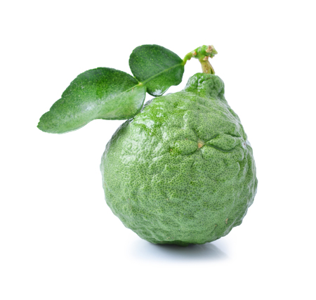 Bergamot[Kaffir lime] isolate on whit background photo