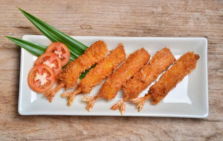 fritter: Shrimp Fritter on dish
