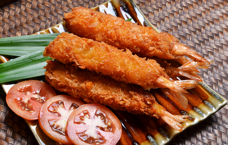 Shrimp Fritter on dish photo