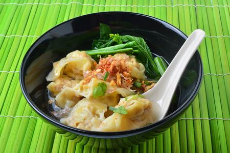 Wonton Soup. pork soup asia food photo