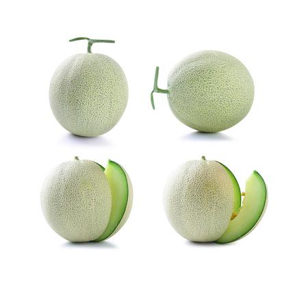 cantaloupe melon isolated on white background Stock Photo