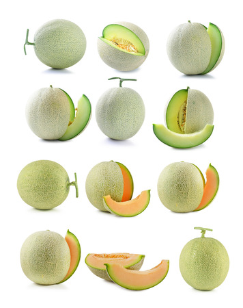 cantaloupe melon isolated on white background Stock fotó