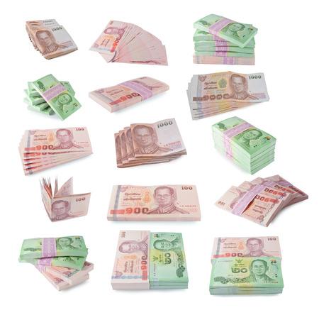 Thailand banknotes  on white background. photo