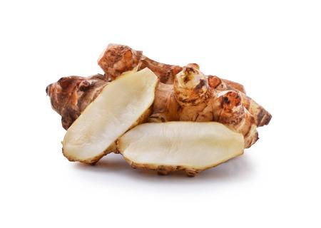 jhy: Jerusalem artichoke on a white background