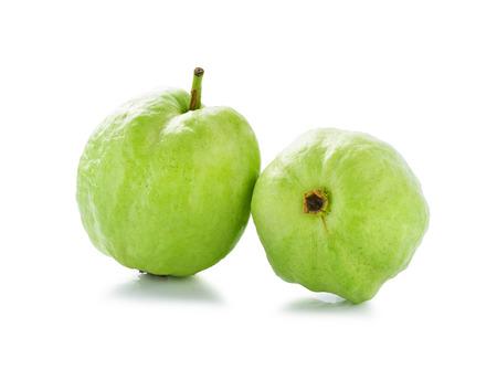 Guavas isolated on white background photo