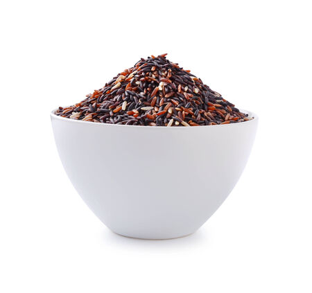 red rice on  background photo