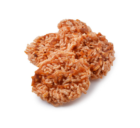 drizzle: Thai Sweet Crispy Rice Cracker with Cane Sugar Drizzle. Stock Photo