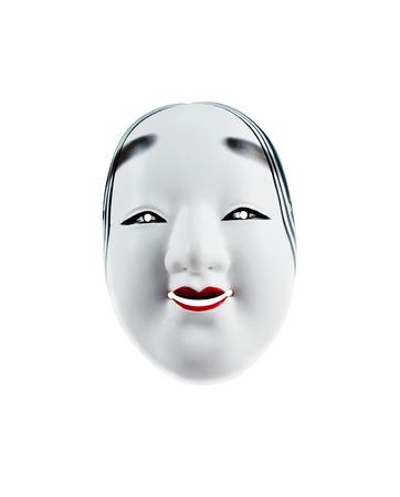 Japanese mask isolated over white background photo