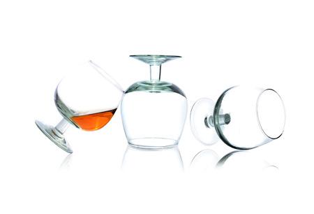 tipple: Glass of brandy Stock Photo