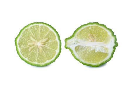 acidic: Bergamot[Kaffir lime] isolate on whit background