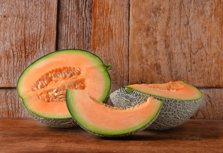 cantaloupe: cantaloupe melon Stock Photo