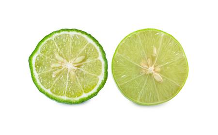 astringent: Lime and Bergamot[Kaffir lime]  on a white background.