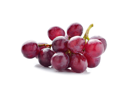 purple red grapes: grape isolated on white Stock Photo