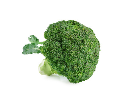 cruciferous: broccoli still life on a white background Stock Photo