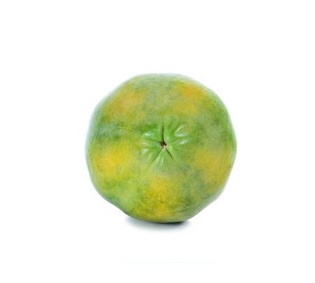 cutaneous: green papaya in white background