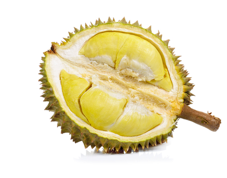 Durian isolated on white background.