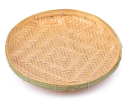 threshing: threshing basket isolated on white Stock Photo