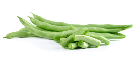 long bean: long bean isolated on white backgroound.