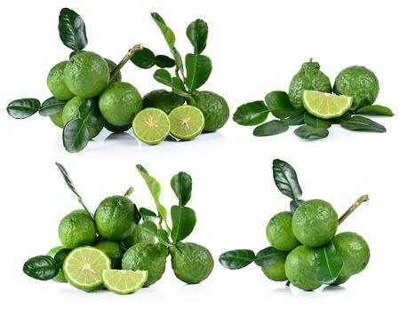 Bergamot fruit on white background. Stock Photo