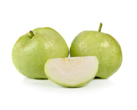 Guavas isolated on white background