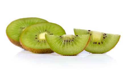 kiwi fruit isolated on white background Stock Photo