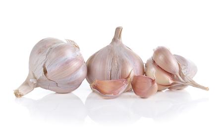 spiciness: Garlic isolated on white background
