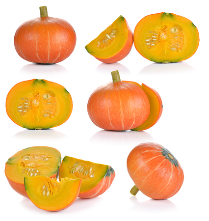 pumpkin isolated on the white background.