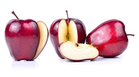 A ripe apple on white background Stock Photo