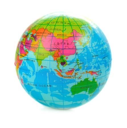 Globe isolated on white Archivio Fotografico