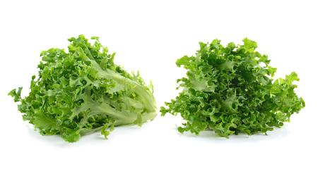 lettuce leaves isolated on white Stock Photo