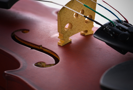 Close up of a violin on a background.