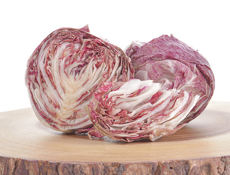 Radicchio, red salad isolated on white background Stock Photo